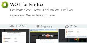 Infocard WOT für Firefox