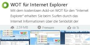 Infocard WOT für Internet Explorer