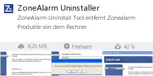 Infocard ZoneAlarm Uninstaller