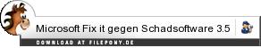 Download Microsoft Fix it gegen Schadsoftware bei Filepony.de