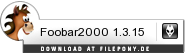 Download Foobar2000 bei Filepony.de