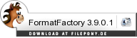 Download FormatFactory bei Filepony.de