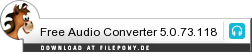 Download Free Audio Converter bei Filepony.de