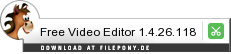 Download Free Video Editor bei Filepony.de