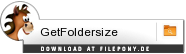 Download GetFoldersize bei Filepony.de