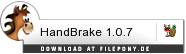 Download HandBrake bei Filepony.de