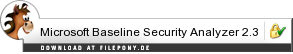 Download Microsoft Baseline Security Analyzer bei Filepony.de