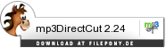 Download mp3DirectCut bei Filepony.de