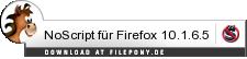 Download NoScript für Firefox bei Filepony.de