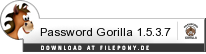 Download Password Gorilla bei Filepony.de