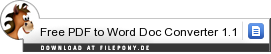 Download Free PDF to Word Doc Converter bei Filepony.de