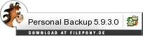 Download Personal Backup bei Filepony.de