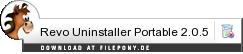 Download Revo Uninstaller Portable bei Filepony.de