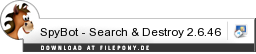 Download SpyBot - Search & Destroy bei Filepony.de