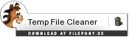 Download Temp File Cleaner bei Filepony.de