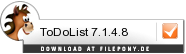 Download ToDoList bei Filepony.de