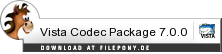 Download Vista Codec Package bei Filepony.de
