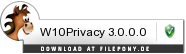 Download W10Privacy bei Filepony.de