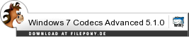 Download Windows 7 Codecs Advanced bei Filepony.de